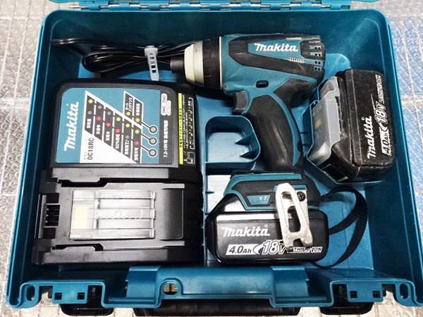マキタ インパクトドライバ TP141D 18V 4.0Ah バッテリ2個 買取