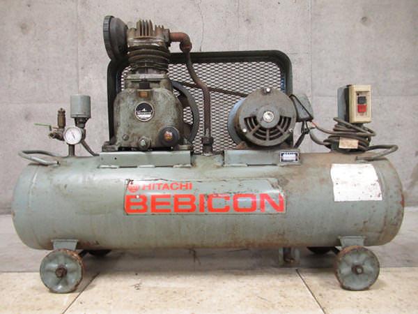 日立工機 コンプレッサー ベビコン 2馬力 1.5kw  1.5P-9.5V タンク容量70L 買取
