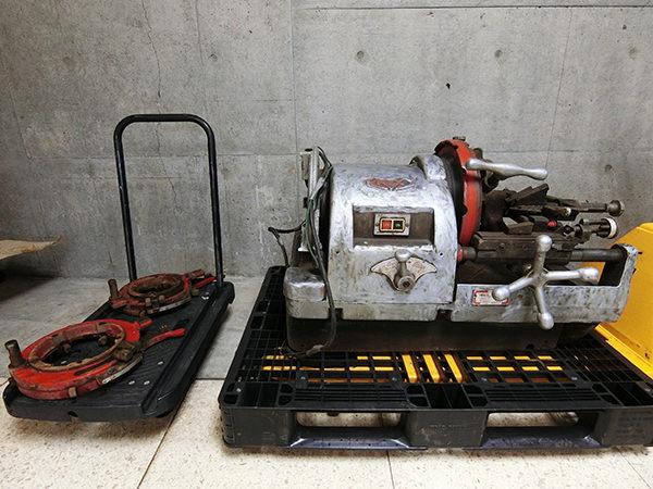 レッキス工業 REX 150A パイプマシン 切削ねじ加工機  自動切上ダイヘッド付き