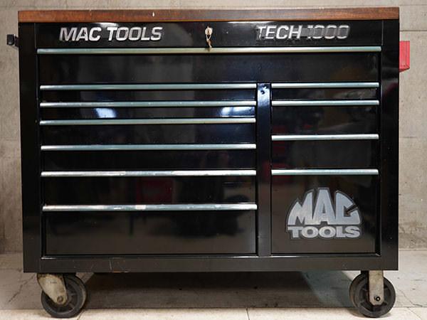 マックツール ロールキャブ TECH1000 テック1000 木製天板 黒 ブラック 工具箱 買取