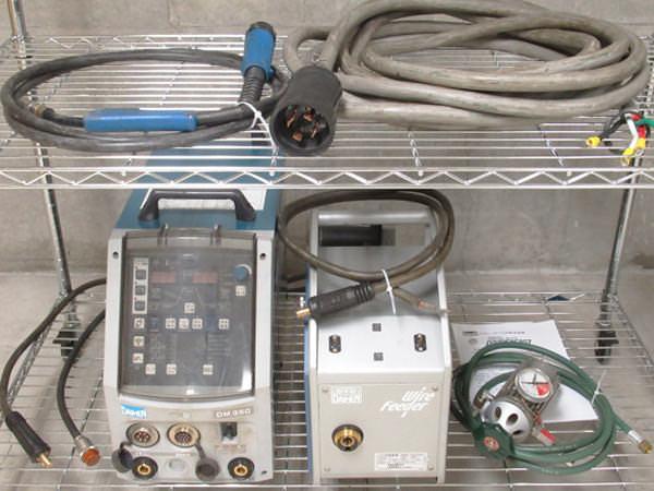 ダイヘン 溶接機 CO2 MAG溶接用直流電源 DM350 2006年製 ワイヤ供給装置 CM-7401 買取