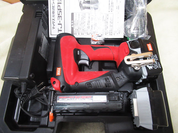 MAX マックス 充電式ピンネイラ TJ-35P1 充電器 バッテリ2個 買取
