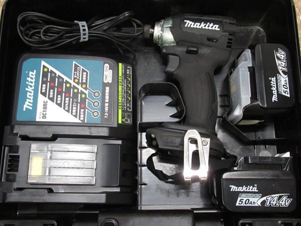 マキタ インパクトドライバ TD137DRTXB 14.4V 5.0Ahバッテリ2個 買取