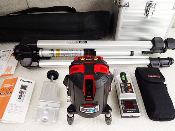 Tajima タジマ 高輝度レーザー墨出し器 AXT-KYR  ML-RCV2 マルチレーザーレシーバー2 ELV-150 エレベーター三脚1500 買取