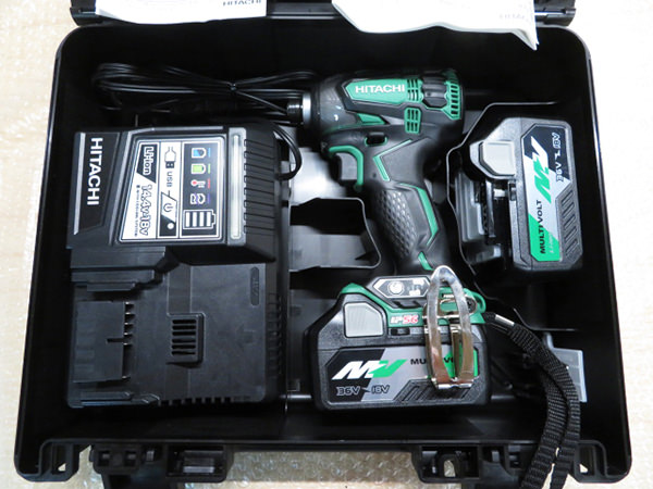 HIKOKI 日立工機 コードレスインパクトドライバWH36DA 36V リチウムイオン電池2個付 買取