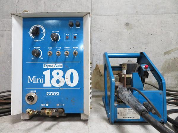 DAIHEN ダイヘン 溶接機 Dyna Auto ダイナオート Mini 180 CO2・MAG溶接用直流電源 CPTM-1801(S-1)   CMM-235 ワイヤ送給装置付き