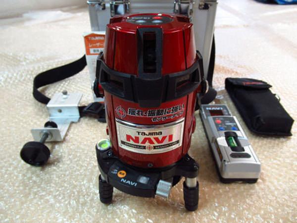 タジマ レーザー墨出し器 ZEROSN-KJC NAVI 高輝度センサー フルライン縦4本 水平360度 受光器付き 買取