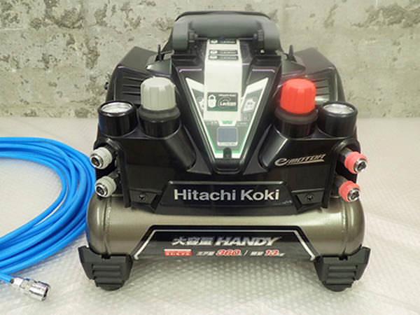 HIKOKI 日立工機 高圧エアコンプレッサ EC1245H2  常圧ホース付 買取