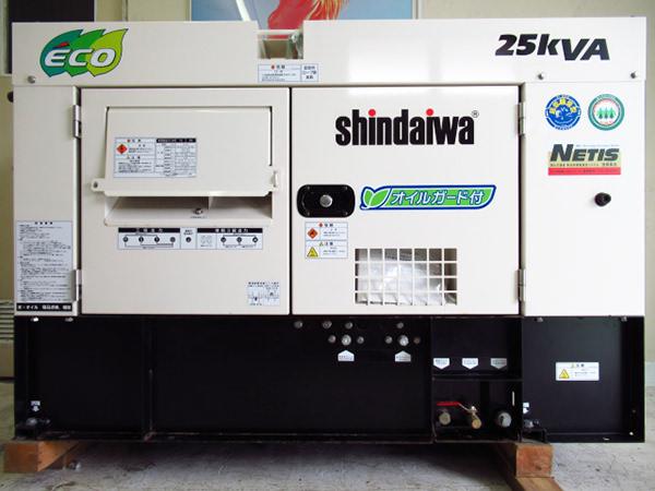 新ダイワ マルチディーゼル発電機 やまびこ DGM250MK 買取