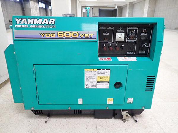 Yanmar ヤンマー  空冷式ディーゼル発電機 YDG600VST-5E 買取