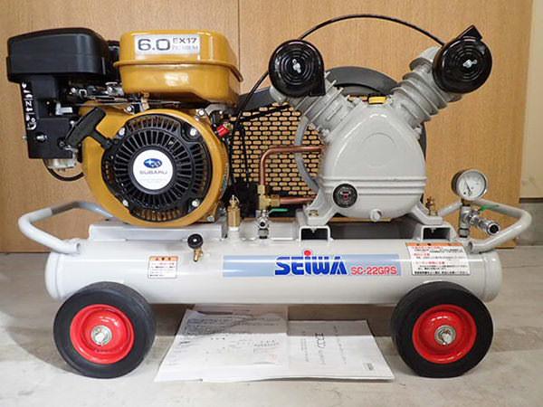 精和産業 セイワ エンジンコンプレッサー SC-22GRS  新同 保証書