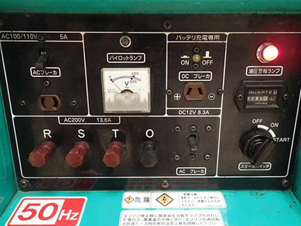 空冷式ディーゼル発電機2